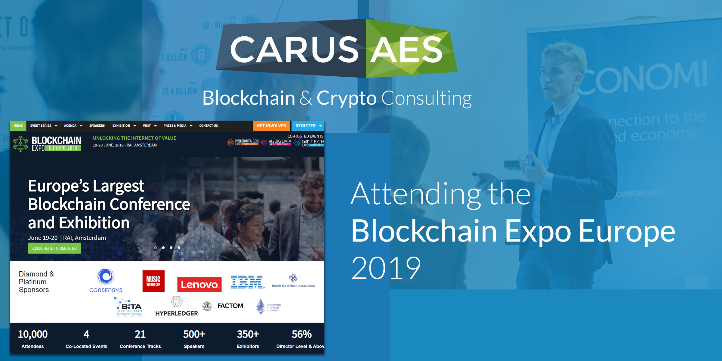 CarusAes and CARUS-AR Attending the Blockchain Expo Europe 2019