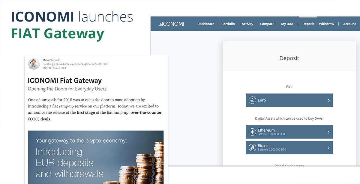 ICONOMI launches FIAT Gateway